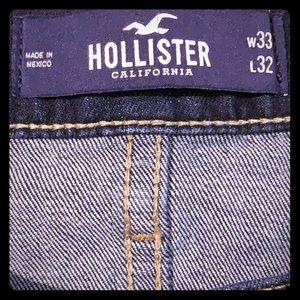 I'm selling Hollister slim straight dark jeans